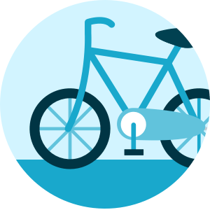 Logo Bicicleta - Rastreator.com