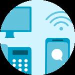 Internet, fijo, móvil y tv - Icono desktop