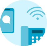 Internet, fijo y móvil - Icono desktop