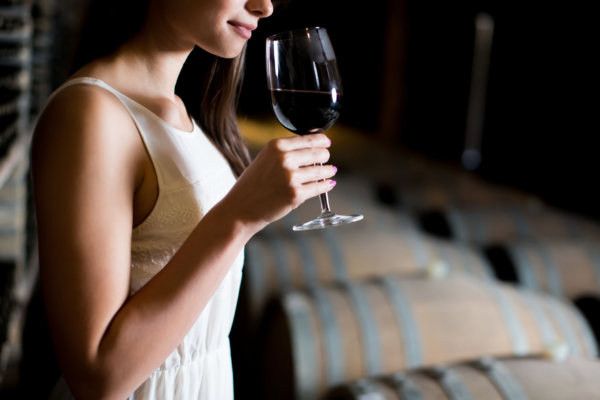 49275506 - young woman in the wine cellar